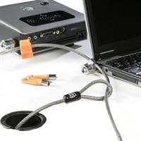 Kensington Twin Microsaver - Lås för säkerhetskabel - 2.2 m - för Precision Fixed Workstation T5400; Precision Mobile Workstation 7510, 7710; Vostro 3900