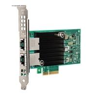 Dell med Dubbel portar Intel X550, 10G Base-T Adapter låg profil