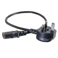 C2G Universal Power Cord - Strmkabel - IEC 320 EN 60320 C13 - BS 1363 (hane) - 3 m (9.84 ft) - formpressad - svart