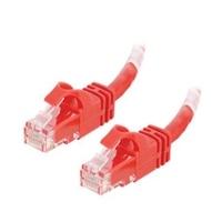 C2G Cat6 550MHz Snagless Patch Cable - Patch-kabel - RJ-45 (hane) - RJ-45 (hane) - 50 cm (19.69'') - CAT 6 - formpressad, mångtrådig, hakfri - röd