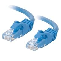 C2G Cat6 550MHz Snagless Patch Cable - Patch-kabel - RJ-45 (hane) - RJ-45 (hane) - 30 m (98.43 ft) - CAT 6 - formpressad, mångtrådig, hakfri, startad - blå