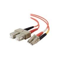C2G LC-SC 50/125 OM2 Duplex Multimode PVC Fiber Optic Cable (LSZH) - nätverkskabel - 15 m - orange