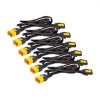APC - Strömkabel - IEC 320 EN 60320 C13 - IEC 320 EN 60320 C14 - 61 cm - svart - Världsomspännande (paket om 6 )