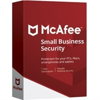 McAfee® Small Business Security – 電子軟體下載 - 1 年訂閱授權 – 5 部 PC 或 Macs 加上無限數量的行動裝置† – Windows