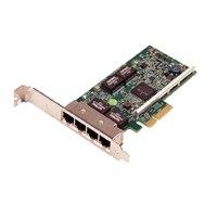 Dell 四連接埠 1GbE PCIe 網路介面卡 - 全高式