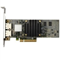 Dell 雙端口 1 Gigabit / 10 Gigabit iSCSI 伺服器配接卡乙太網路 PCIe BaseT 網路介面卡 - 全高式