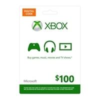 Microsoft Xbox Live $100 Digital Gift Card