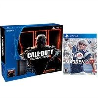 Sony PlayStation 4 500GB HDD Game Console - Jet Black + Call of Duty Black Ops 3 + Madden NFL 17 + $25 Dell eGift Card