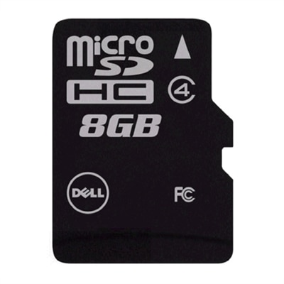 Dell - Flash memory card (adapter included) - 8 GB - Class 4 - microSDHC