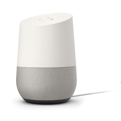 Google - Home - Smart Speaker with Google Assistant - White/Slate