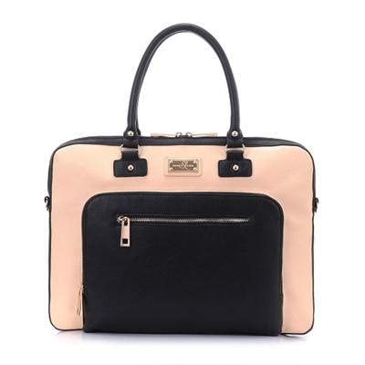Sandy Lisa London - Laptop carrying case - 15.6-inch - black, cream