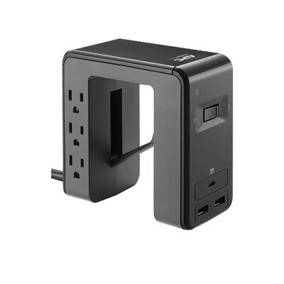 APC SurgeArrest Essential PE6U21 - Surge protector - AC 120 V - output connectors: 6 - black