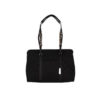 WIB No. 5 Tote - Shoulder bag - polyurethane, 230T nylon - Black