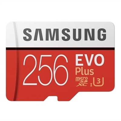 Samsung EVO Plus MB-MC256HA - Flash memory card (microSDXC to SD adapter included) - 256 GB - UHS-I U3 / Class10 - microSDXC UH
