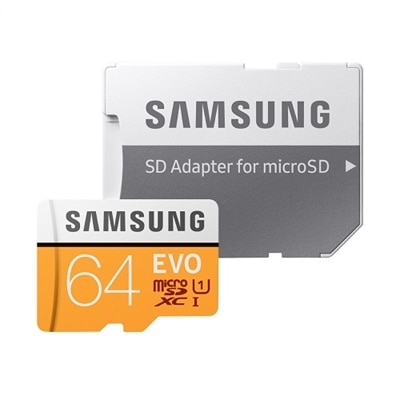 Samsung EVO MB-MP64HA - flash memory card - 64 GB - microSDXC UHS-I