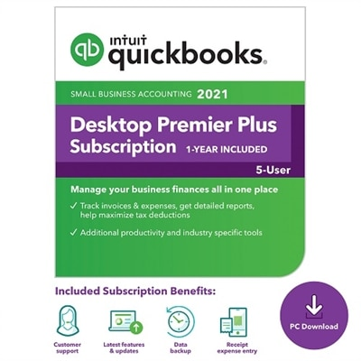 Download Intuit QuickBooks Desktop Premier Plus 2021 5 User