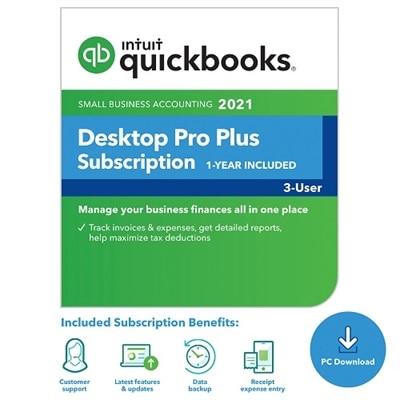 Download Intuit QuickBooks Desktop Pro Plus 2021 3 User