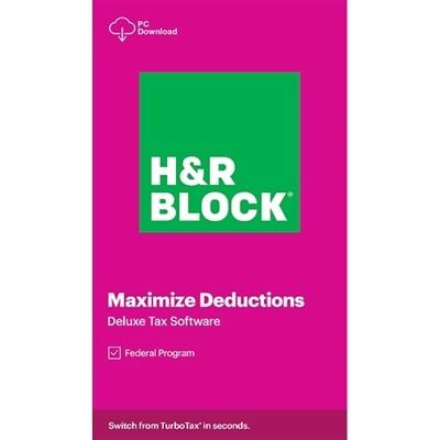 Download HR Block Tax Software Deluxe 2020 Windows