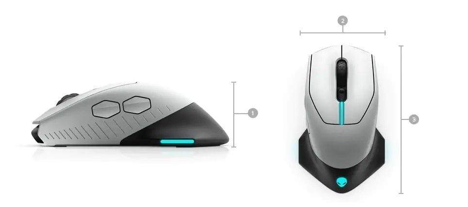 Alienware RGB Gaming Keyboard - AW510K + Wired/Wireless Gaming Mouse - AW610M