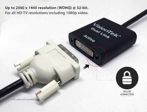 Mini Displayport To Dual Link Dvi D Active Adapter M F