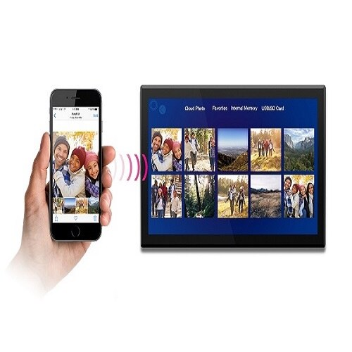 """17.3"""" WiFi Digital Photo Frame with Touchscreen IPS LCD Display and ..."""