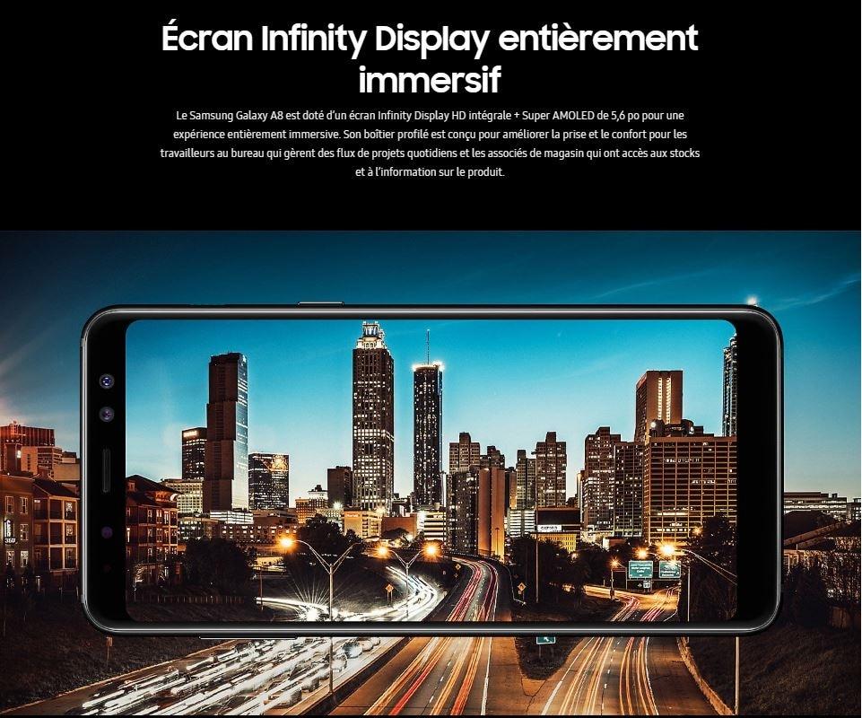 Samsung Galaxy A8 - 32 Go Smartphone - Noir 2bcffbb3b406