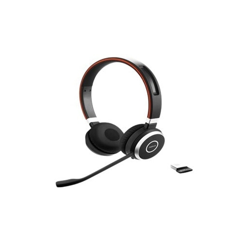 Jabra Evolve 65 Uc Stereo Headset On Ear Wireless Bluetooth With Jabra Link 360 Adapter Dell Canada