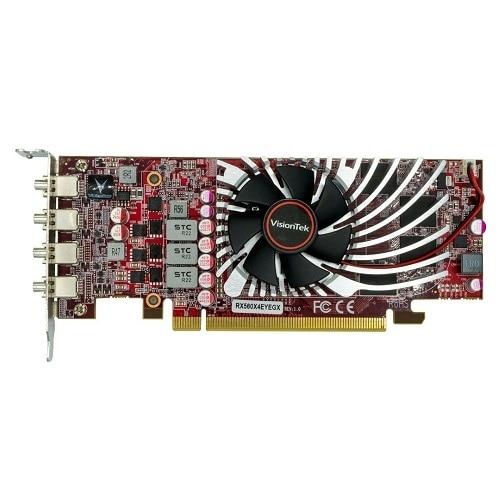 VisionTek Radeon RX 560 4M - Graphics card - Radeon RX 560 - 4 GB GDDR5 - PCIe 3.0 x16 low profile - 4 x Mini DisplayPort