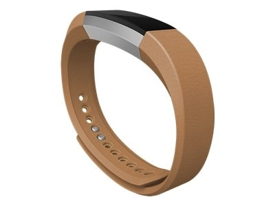 Fitbit - Large - arm band - camel leather - for Fitbit Alta (Large (fits wrists 170-206 mm))
