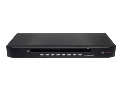 """""""The SwitchView 1000 8-port KVM switch from Avocent ® provides PS/2 or USB connectivity for users and target devices. This single user switch has an on-screen display (OSD) and supports a 2048 x 1536 high video resolution that is ideal for graphical applications. With a 1U high design, the compact SwitchView 1000 8-port switch does not compete for valuable rack space in SMB server rooms. Plus, this KVM rack solution is flash upgradeable for fast and easy updates. The SwitchView 1000 also offers password protection feature that gives you the benefit of added security access to your business-critical servers. Device Type: KVM switch - 8 ports - stackable Enclosure Type: Desktop, rack-mountable 1U Subtype: KVM Ports: 8 x KVM port(s) KVM Local Users Qty: 1 local user Keyboard / Mouse Interface: PS/2 Max Units In A Stack: 16 Max Resolution: 2048 x 1536 Features: On-Screen Display Interfaces: 8 x KVM HD-15 1 x network stack device input DB-15 1 x network stack device output DB-15 1 x keybo"""