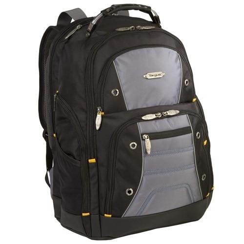 1257112163 Targus Drifter II Laptop Carrying Backpack 17-inch – Black Gray Targus  Drifter II Laptop Carrying Backpack 17-inch – Black Gray