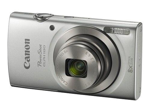 Canon- PowerShot ELPH 180 - Digital camera - silver