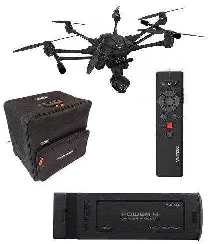 Yuneec H Flying Six Intel RealSense + Extra Battery + Backpack + Wizard controller