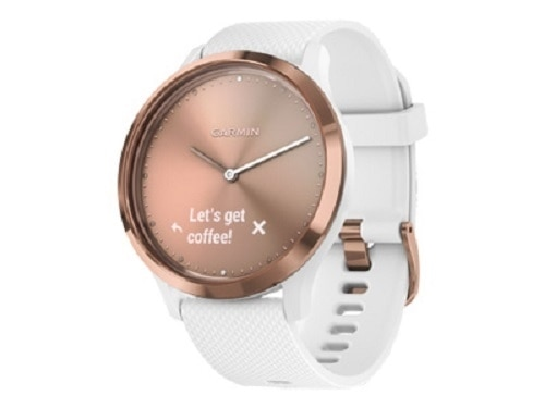 Garmin V�vomove HR Sport - Rose gold - Smart Watch with White Silicone Band