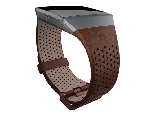 Fitbit Perforated Leather Band Watch Strap Small Cognac for Fitbit Ionic