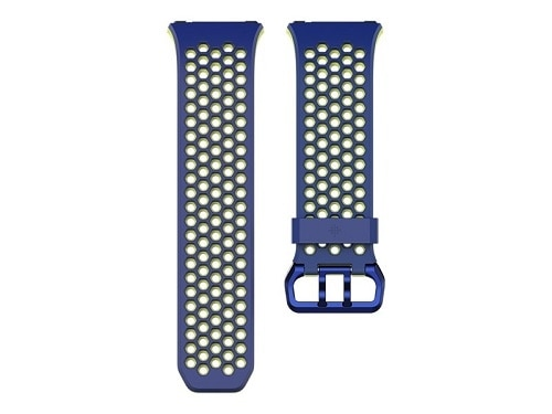 Fitbit Sport Band Watch Strap Large Blue and Yellow for Fitbit Ionic