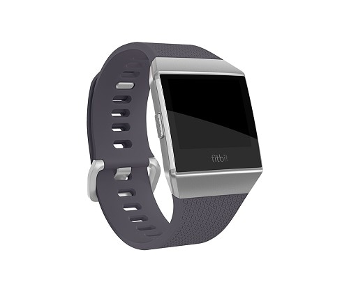 Fitbit Ionic Smart Watch Bluetooth, Wi-Fi, NFC 1.76 oz Blue Gray, Silver Gray