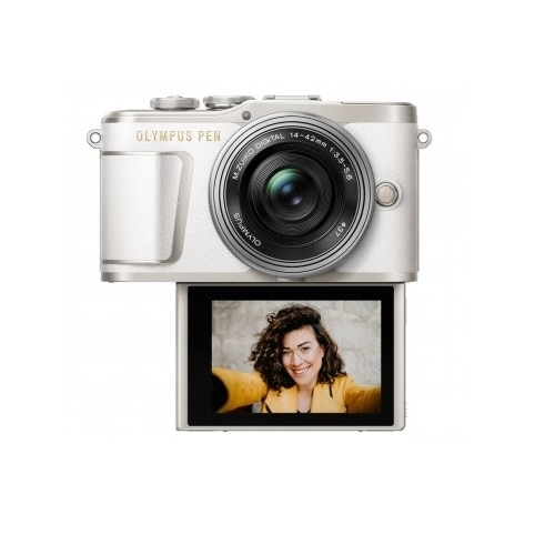 Olympus PEN E-PL9 KIT with 14-42MM LENS, 16GB CARD and Case - White