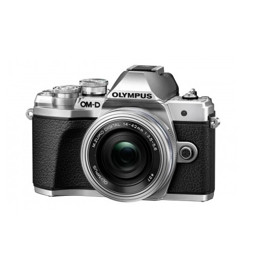 Olympus OM-D E-M10 Mark III KIT with 14-42MM EZ Lens, Case, 16GB SD Card - Silver