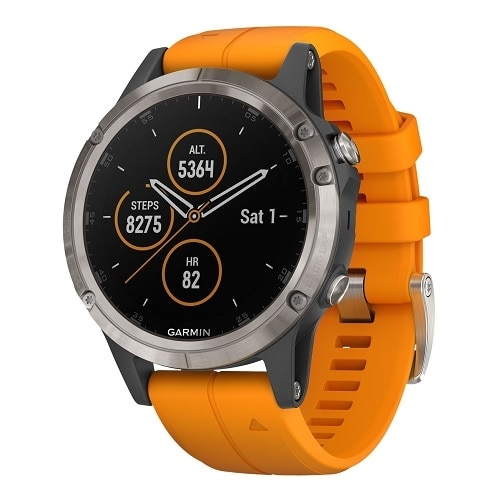 Garmin fenix 5 Plus Sapphire - GPS/GLONASS/Galileo watch Hiking, Running, Swimming 1.2 in