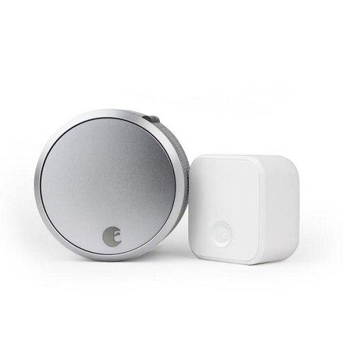 August Smart Lock Pro + Connect - Door lock - electronic - smart lock - Z-Wave - silver