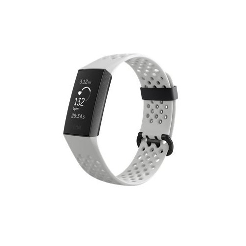 Fitbit Charge 3 - Special Edition - graphite activity tracker with sport band - White frost