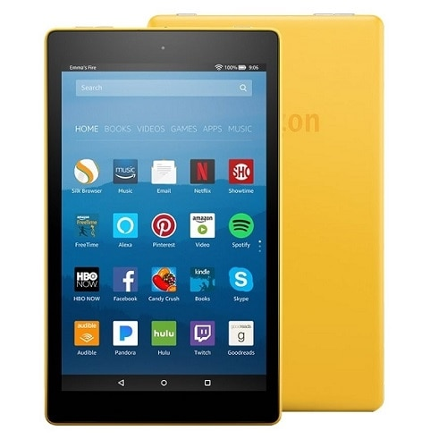 """Amazon Fire HD 8 Tablet Fire OS 5 (Bellini) 32 GB 8"""" IPS (1280 x 800) - Canary Yellow"""