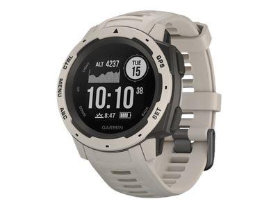 Garmin Instinct - Tundra - smart watch with band - silicone - monochrome - Bluetooth, ANT+ - 1.83 oz