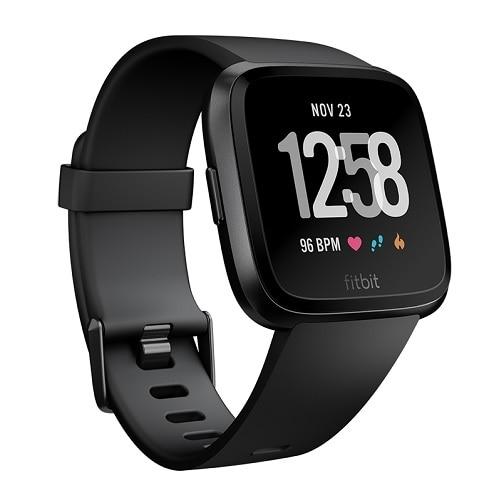 Fitbit - Versa Smartwatch - Black/Black