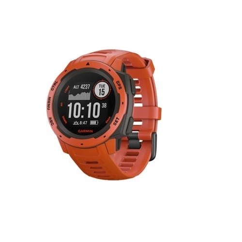 Garmin Instinct - Flame red - smart watch with band - silicone - monochrome - Bluetooth, ANT+ - 1.83 oz