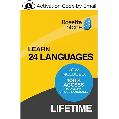 Rosetta Stone Lifetime Subscription UNLIMITED Learn All 24 Languages