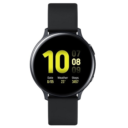 Samsung Galaxy Watch Active 2 – aqua black aluminum – smart watch with band – 4 GB