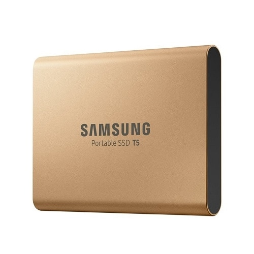 Samsung Portable SSD T5 MU-PA1T0 - Solid state drive - encrypted - 1 TB - external (portable) - USB 3.1 Gen 2 (USB-C connector) - 256-bit AES - rose g