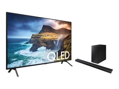 Samsung 85 Inch 4K Ultra HD Smart TV QN85Q70RAF UHD TV with Samsung HW-Q70R Soundbar